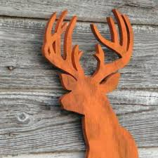 deer head sign modern home decor wooden trophy buck rustic
