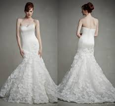 2015 glamorous mermaid wedding dresses corset bodice with satin