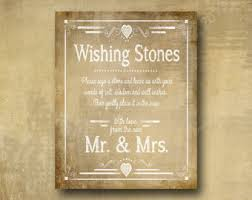 wishing stones wedding stones etsy