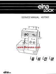 elna sewing machine manuals service manuals