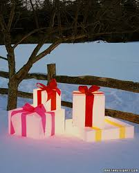 outdoor decor glowing gift boxes cheaps for
