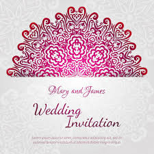 lacy vector wedding card template abstract circle floral ornament