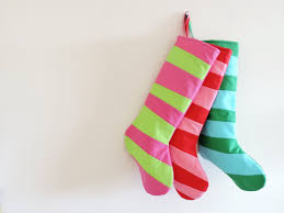 striped stockings personalized christmas stocking personalized