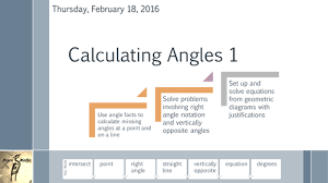 calculating angles 1 about a point and on a line by martin8baker
