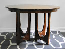 furniture wonderful round wooden dining table by broyhill