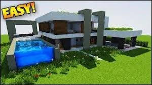 minecraft how to build a small modern house tutorial 2017 5x5