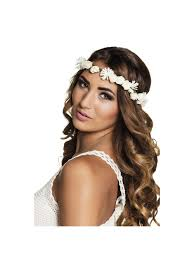 white flower headband ibiza white flower headband hen party accessories from hen party
