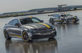 cars mercedes 2017 2017 mercedes amg c63 coupe edition 1 and 2016 c63 dtm racer revealed