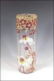 Antique Glass Vases Value Bohemian Moser Or Herrach Enameled Art Glass Vase With Salamander