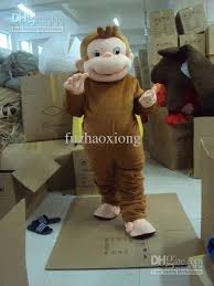 professional curious george monkey mascot costume halloween