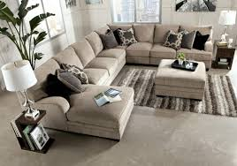 Wooden Couch With Cushions Furniture Cream Upholstered Sectional Sofa With Chaise And