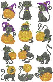 halloween cats halloween black cats machine embroidery designs by sew swell