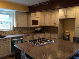 furniture elegant american woodmark with mosaic tile backsplash traditional kitchen design with white american woodmark and cozy cambria quartz countertops plus mosaic tile backsplash