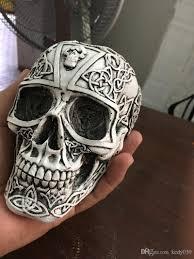 small halloween party 2017 small skull model theme interior decoration resin skull hall