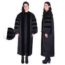 doctoral gown black phd gown for graduation