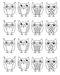 printable cartoon owl coloring pages coloringstar