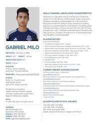Soccer Resume Samples by Soccer My Football Cv Sample Template For Soccer Resume Artisteer