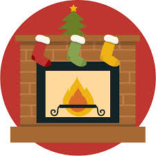 free christmas fireplace vector clip art library