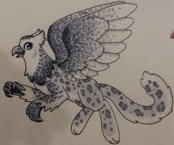 snowy owl and snow leopard griffon by scratchdixie on deviantart
