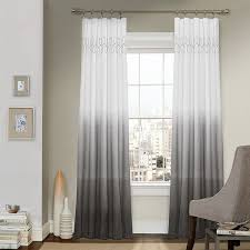 White Grey Curtains White With Grey Curtains 100 Images Window Panel Etsy Curtain