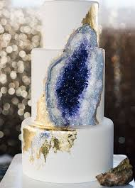 beautiful geode u0026 marble wedding cake designs