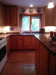Kitchens With Hickory Cabinets Kitchen With Hickory Cabinets And Maple Floors The Dis Disney