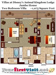 Master Bedroom Floor Plan by Photo Tour One Bedroom Villa Bath Master Bedroom Space Disney U0027s