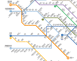 Metro Gold Line Map by South Korean Subway Lines Seoul Metro Busan Daegu Gwangju
