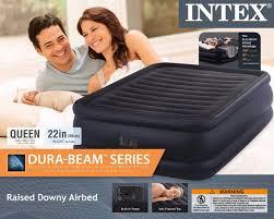 Intex Sofa Bed Intex Queen Raised Downy Fiber Tech Air Bed Mattress Airbed W