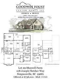 custom homes for sale goodwin foust custom home builder