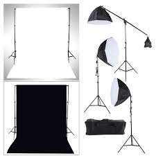 backdrop stands photography studio lighting softbox photo light muslin backdrop