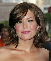 curly layered bob double chin hairstyles for round faces and double chins short layered bob