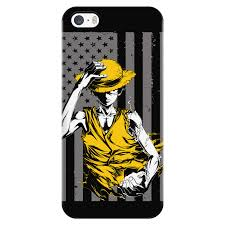 One Piece Flags One Piece Straw Hat Luffy American Flag Iphone Phone Case