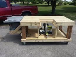 mobile workbench diy bench decoration