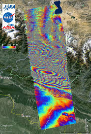 Map Of Nepal And Tibet by Nasa Caltech Team Images Nepal Quake Fault Rupture Surface