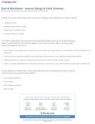 quiz u0026 worksheet interior design u0026 color schemes study com