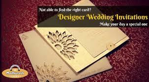 designer wedding invitations add a touch of elegance luxury to your weddings with madhurash