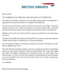 british airways flight attendant cover letter