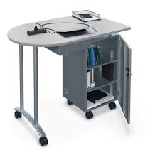Mobile Computer Desk Mobile Teacher Workstation Mooreco Inc Best Rite Balt