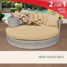 Threshold Wicker Patio Furniture - new haven circular sun bed outdoor wicker patio furniture