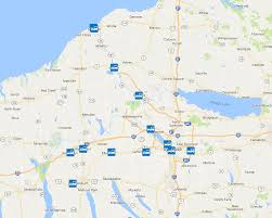 Greyhound Routes Map by Syracuse Onondaga County