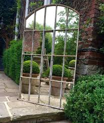20 ideas of garden wall mirrors