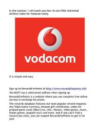 vodacom airtime how to get free unlimited airtime codes for vodacom easily by
