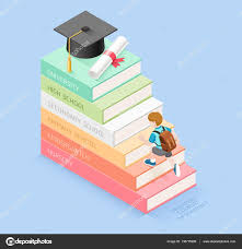 books for graduates high school books step education timeline boy student walking up to the