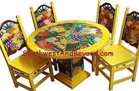 Mexican Chairs Carved Painted Designs Chairs Tables Restaurant Furniture Mexican