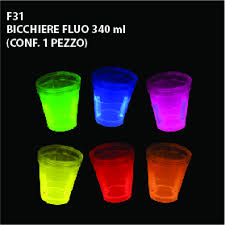 bicchieri fluorescenti i fluo la grande selva