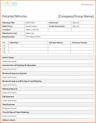 12 template for meeting minutes job resumes word