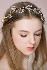alloy wedding headbands with imitation pearl and sah160011