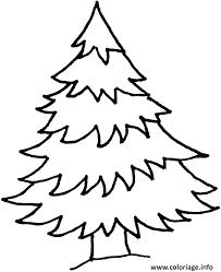 coloriage sapin facile noel pour enfants dessin