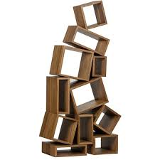 Dark Bookcase Noir Cubist Bookcase Dark Walnut